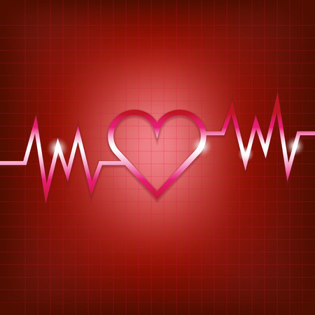 pulsation: Heart shape concept with pulsation