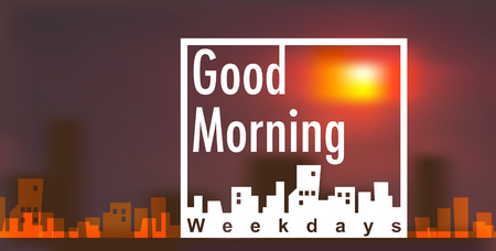Banner vector with good morning concept