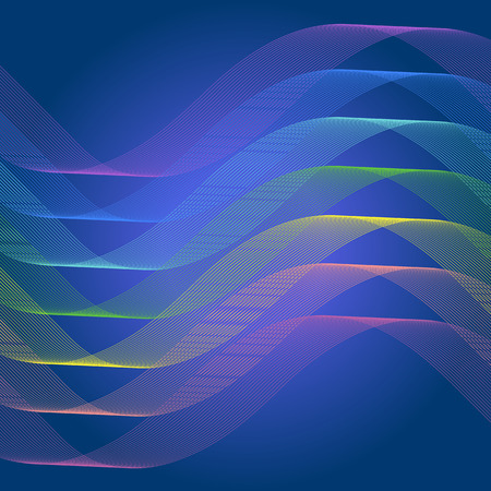 curve line: Spectrum curve line abstract background Illustration