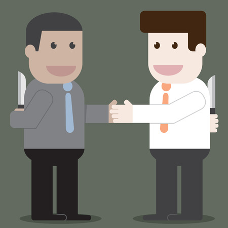 People shake hands in business unfaithful Illustration