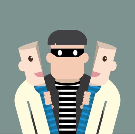 Ladrón carácter en buena persona