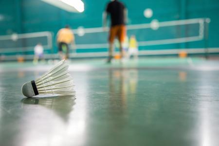 badminton: Badminton player background. Stock Photo