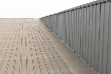 commercial construction: Metal roof. Stock Photo