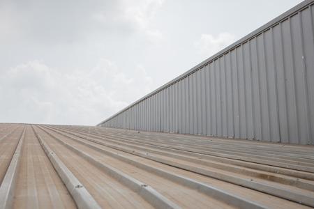 Metal roof. Stock Photo