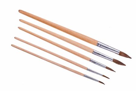 Artistic brushes isolated on  on white background