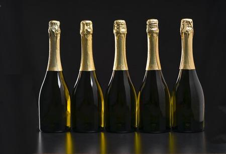 Collection of champagne o bottles Zdjęcie Seryjne