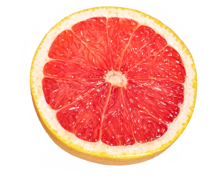Sliced half of grapefruit isolated on the white background. 写真素材