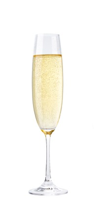 glass of champagne isolated on a white background,champagne glass cut out 写真素材