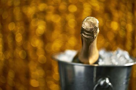 Celebration theme with champagne still life Banco de Imagens