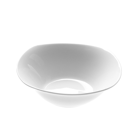 Empty ceramic white plate isolated on white background,with clipping path