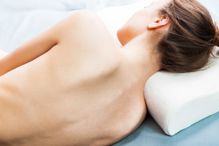 napping: Orthopedic pillows, for a comfortable sleep and a healthy posture. Stock Photo