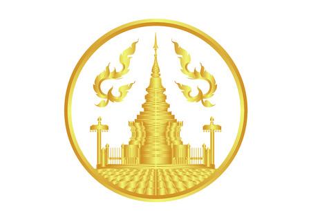 タイのパゴダ ゴールド