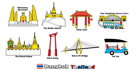 bangkok city: symbol of bangkok city thailand