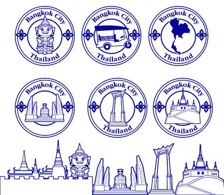 bangkok: symbol of bangkok city thailand