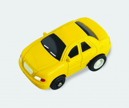 Yellow toy car coupe photo