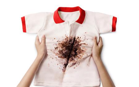dirty shirt Reklamní fotografie