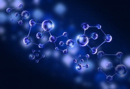 molecule background: molecule dna cell illustration