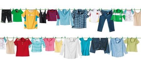 green clothes: cloth line