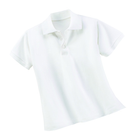 手きれいな白いシャツ 写真素材