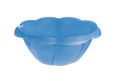 basin: red plastic basin isolated