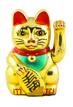 Gold Maneki Neko Japan Lucky Cat photo
