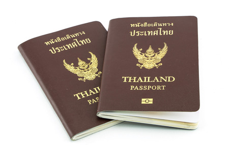 Thailand passport  isolated on white photo