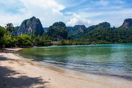 long tailed boat: Rai Lay Beach