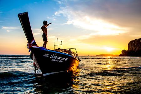 Sunset Rai Lay Beach Krabi Thailand