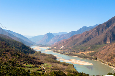 three gorges: first curve yangtze river