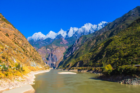 on the way from lijiang to shangri-la mount Hkakabo Razi