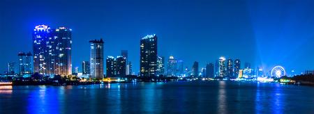 riverfront: Bangkok river view form Krungthep Bridge