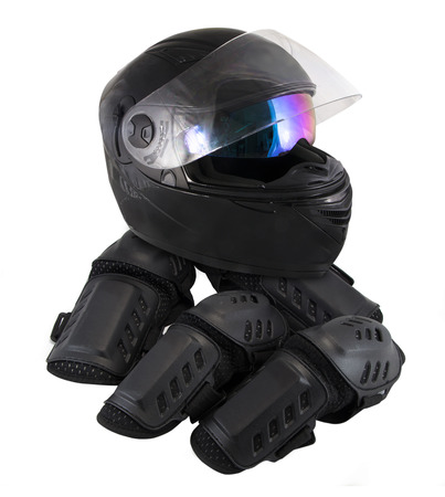 protector motorcycle protective gear knee pad riding Elbow Knee Pads and helmet photo