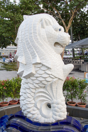 The Merlion in Marina bay Singapore Editorial