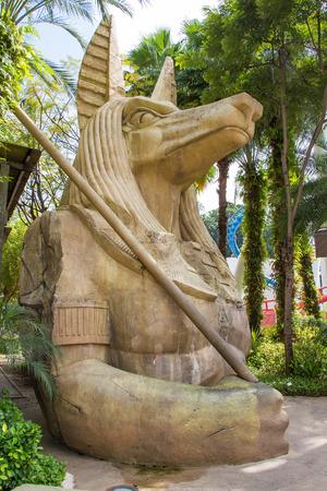 anubis: Egyptian ancient art Anubis Sculpture  Figurine Statue Editorial