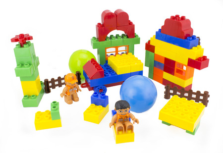 block building toy colorful isolated
