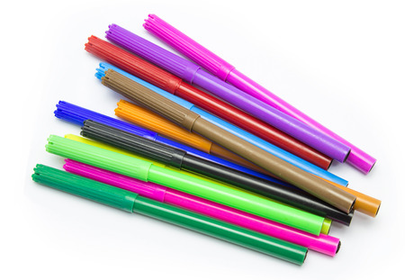 red pen: Colorful markers pens Multicolored Felt Pens draw line