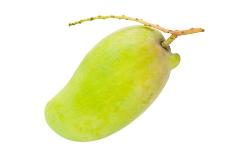 Fresh Green mango isolated on white photo