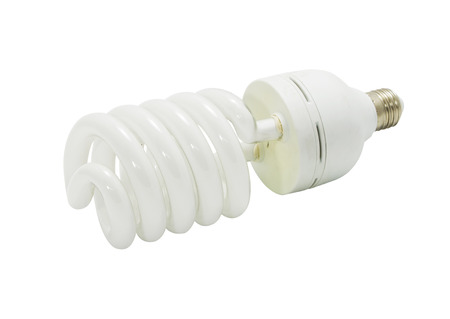 florescent light: bulb spiral isolated on white background with clipping path