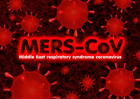 syndrome: MERS-CoV Middle East Respiratory syndrome Stock Photo