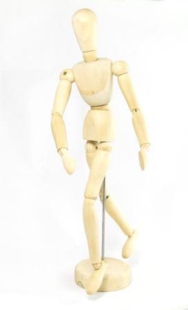 unisex: Wooden Human Mini Mannequin Unisex isolated Stock Photo