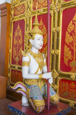 himmapan: God sculpture in Bangkok national museum Editorial