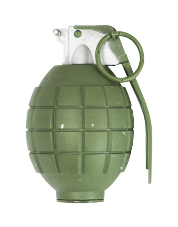 shrapnel: Hand Grenades isolated on white with clipping path