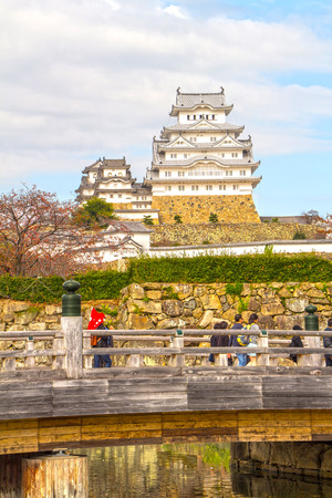 high dynamic range: Himeji Castle in Kansai Kyoto Japan HDR Style High Dynamic Range