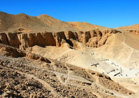 View over the Valley of Kings near Luxor, West Bank, Egypt