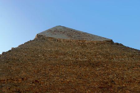 chephren: Details of the Stone Blocks of the Khafre (Chephren) Pyramid at Giza, Cairo, Egypt Stock Photo