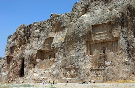 Naqsh-e Rostam, Tombs of Persian Kings, near Persepolis. Iran