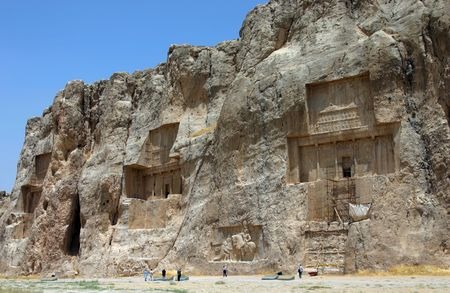 Naqsh-e Rostam, Tombs of Persian Kings, near Persepolis. Iran