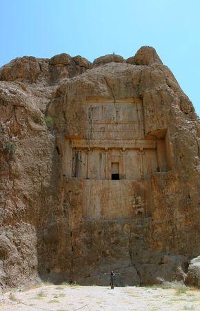 Naqsh-e Rostam, Tomb of Persian King, near Persepolis. Iran Stock Photo