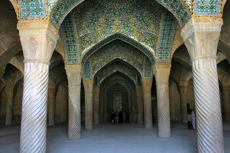 Interior of Regents Mosque, Shiras, Iran