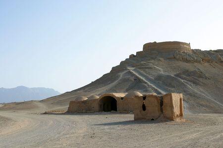 Ruins of Zoroastrian Towers of Silence Yazd, Iran Stock Photo
